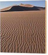 Sand Dunes Against Clear Sky Wood Print
