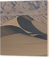 Sand Dunes In Death Valley Wood Print