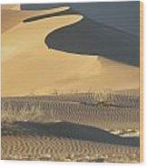 Sand Dunes In Namib Desert Wood Print