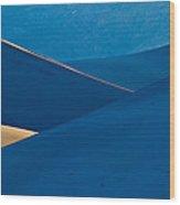 Sand Dunes Sunrise Wood Print