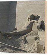 Sand Man Wood Print