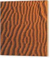 Sand Maze Wood Print