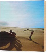 Sand Nature Near Oceon Wood Print