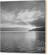 Sand Point Black And White  Wood Print