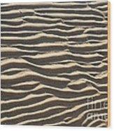 Sand Ripples Wood Print