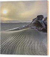 Sand Wrinkles Wood Print