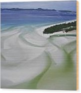 Sandbars Create An Interesting Pattern Wood Print