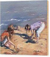 Sandcastles Wood Print