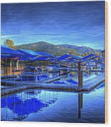 Sandpoint Marina And Power House 1 Wood Print