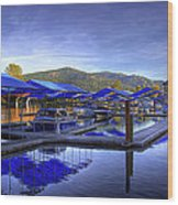 Sandpoint Marina And Power House 2 Wood Print