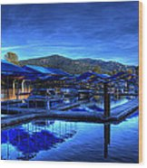 Sandpoint Marina And Power House 3 Wood Print