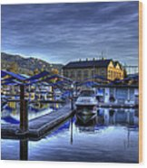 Sandpoint Marina And Power House Wood Print