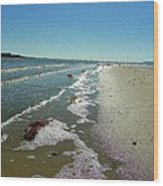 Sandsplit Beach Lowtide Wood Print