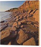 Sandstone Cliffs, Cape Turner, Prince Wood Print by John Sylvester