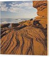 Sandstone Cliffs, Cavendish, Prince Wood Print