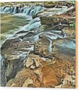 Sandstone Falls In The New River Wood Print