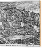 Sandstone Quarry, 1840 Wood Print