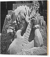 Sandy Rock Musician Wood Print