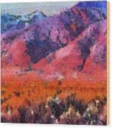 Sangre De Cristos -- Cezanne Wood Print