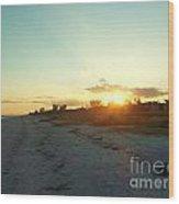 Sanibel Sunset Wood Print