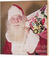 Santa Claus Wood Print