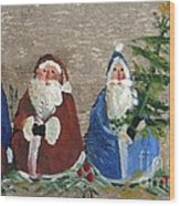 Santa Collector Wood Print