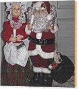Santa Couple Wood Print