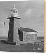 Santa Cruz Lighthouse - Black And White Wood Print