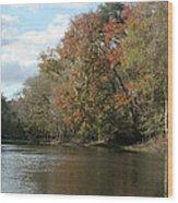 Santa Fe River Wood Print by Sean Green