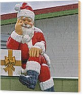 Santa Is Waiting For You Wood Print