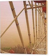 Santa Monica California Ferris Wheel Wood Print