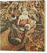 Santa's Vintage Memories Wood Print