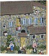 Santons. Provence Wood Print