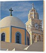 Santorini Church Wood Print