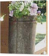 Sap Bucket Planter Wood Print