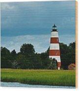 Sapelo Is. Lighthouse Wood Print