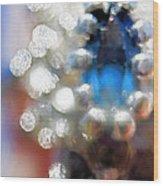 Saphire Sparkle Wood Print