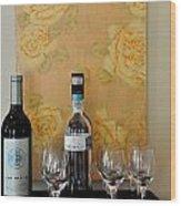 Sara Beth's Wine Rack Wood Print