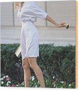 Sarah Jessica Parker Wearing A Halston Wood Print