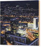 Sarajevo By Night Wood Print