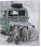 Saranac Cities Service Truck Wood Print