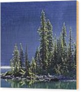 Sargents Point, Lake Ohara, Yoho Wood Print