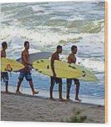 Satelite Beach Wood Print