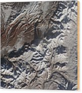 Satellite Image Of Russias Kizimen Wood Print