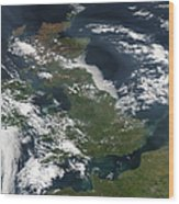 Satellite Image Of Smog Over The United Wood Print
