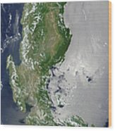 Satellite Image Of The Northern Wood Print