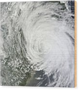Satellite Image Of Tropical Storm Muifa Wood Print