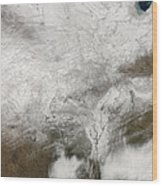 Satellite View Of A Severe Winter Storm Wood Print
