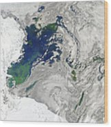Satellite View Of The Ross Sea Wood Print