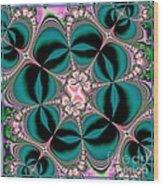 Satin Flowers And Butterflies Fractal 122 Wood Print